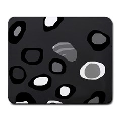 Gray abstract pattern Large Mousepads