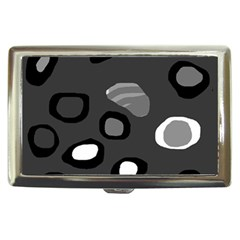 Gray abstract pattern Cigarette Money Cases