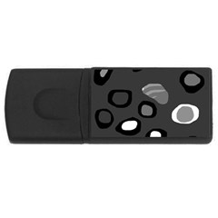 Gray abstract pattern USB Flash Drive Rectangular (4 GB)