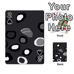 Gray abstract pattern Playing Cards 54 Designs