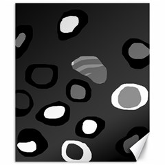 Gray abstract pattern Canvas 20  x 24
