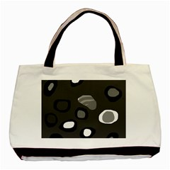 Gray abstract pattern Basic Tote Bag (Two Sides)