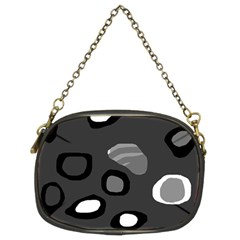 Gray abstract pattern Chain Purses (Two Sides)