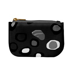 Gray abstract pattern Mini Coin Purses