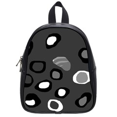 Gray abstract pattern School Bags (Small)