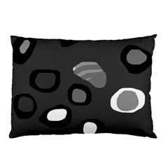 Gray abstract pattern Pillow Case (Two Sides)