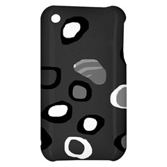 Gray abstract pattern Apple iPhone 3G/3GS Hardshell Case