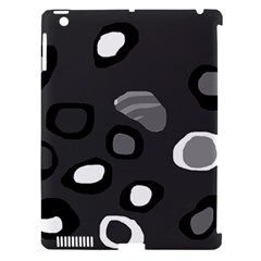 Gray abstract pattern Apple iPad 3/4 Hardshell Case (Compatible with Smart Cover)