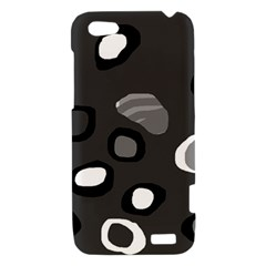 Gray abstract pattern HTC One V Hardshell Case