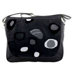 Gray abstract pattern Messenger Bags