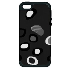 Gray abstract pattern Apple iPhone 5 Hardshell Case (PC+Silicone)
