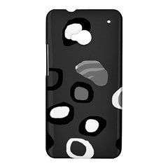 Gray abstract pattern HTC One M7 Hardshell Case