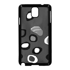 Gray abstract pattern Samsung Galaxy Note 3 Neo Hardshell Case (Black)