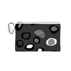 Gray abstract pattern Canvas Cosmetic Bag (S)