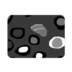 Gray abstract pattern Double Sided Flano Blanket (Mini)