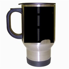 Gray abstract pattern Travel Mug (Silver Gray)