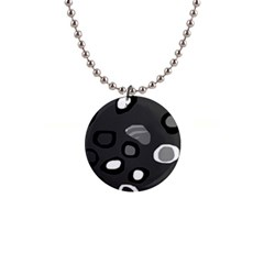 Gray abstract pattern Button Necklaces