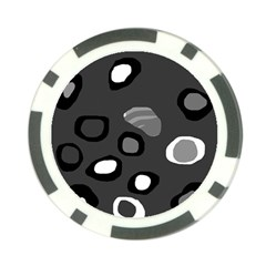 Gray abstract pattern Poker Chip Card Guards (10 pack)