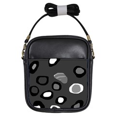 Gray abstract pattern Girls Sling Bags