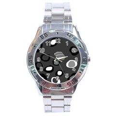 Gray abstract pattern Stainless Steel Analogue Watch