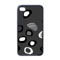 Gray abstract pattern Apple iPhone 4 Case (Black)