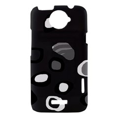 Gray abstract pattern HTC One X Hardshell Case