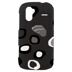 Gray abstract pattern HTC Amaze 4G Hardshell Case