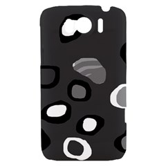 Gray abstract pattern HTC Sensation XL Hardshell Case