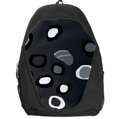 Gray abstract pattern Backpack Bag