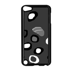 Gray abstract pattern Apple iPod Touch 5 Case (Black)