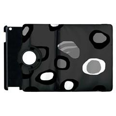 Gray abstract pattern Apple iPad 2 Flip 360 Case