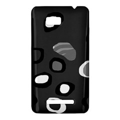 Gray abstract pattern HTC One SU T528W Hardshell Case