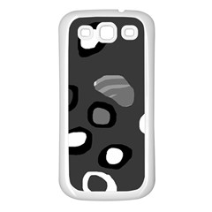 Gray abstract pattern Samsung Galaxy S3 Back Case (White)