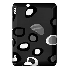 Gray abstract pattern Kindle Fire HDX Hardshell Case