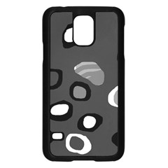 Gray abstract pattern Samsung Galaxy S5 Case (Black)