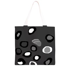 Gray abstract pattern Grocery Light Tote Bag