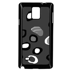 Gray abstract pattern Samsung Galaxy Note 4 Case (Black)