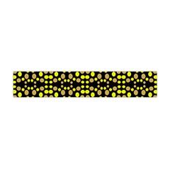 Dots Pattern Yellow Flano Scarf (Mini)