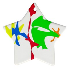 Colorful amoeba abstraction Ornament (Star)
