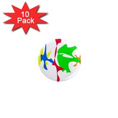 Colorful amoeba abstraction 1  Mini Magnet (10 pack)