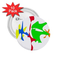 Colorful amoeba abstraction 2.25  Buttons (10 pack)