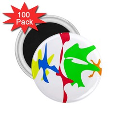 Colorful amoeba abstraction 2.25  Magnets (100 pack)