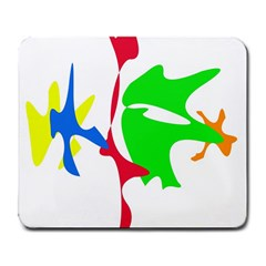 Colorful amoeba abstraction Large Mousepads