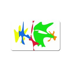 Colorful amoeba abstraction Magnet (Name Card)