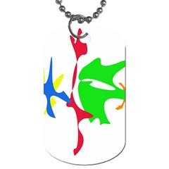 Colorful amoeba abstraction Dog Tag (Two Sides)
