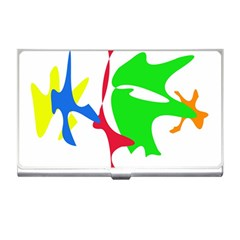 Colorful amoeba abstraction Business Card Holders