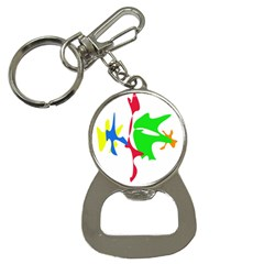 Colorful amoeba abstraction Bottle Opener Key Chains