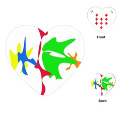 Colorful amoeba abstraction Playing Cards (Heart)