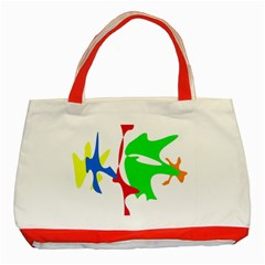 Colorful amoeba abstraction Classic Tote Bag (Red)