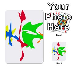 Colorful amoeba abstraction Multi-purpose Cards (Rectangle)